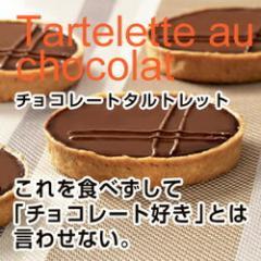 フランス直輸入【冷凍スィーツ】Pasquier チョコレートタルトレット(80g×10個)