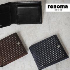 レノマ renoma 二つ折り財布 グレ 525604【メンズ】【レザー】【革】【札入れ】【小銭入れ有り】【送料無料】【送料無料】