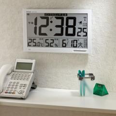 ノア精密 エアサーチ メルスター デジタル表示 W-602 掛け置き兼用 電波時計