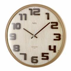 ノア精密 ハイキング FEW172 掛け時計 球面ガラス 立体文字板