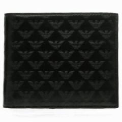 エンポリオ アルマーニ EMPORIO ARMANI  型押しカーフスキン メンズ 二つ折り財布 YEM122 YC043 80001