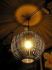 【送料無料】 バンブーのペンダントランプ ボール型 直径30cm アジアン雑貨 バリ雑貨 タイ雑貨 通販 東京