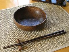 ココナッツの丸皿 [ 13cm]/アジアン雑貨/バリ雑貨