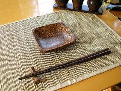 ココナッツの四角皿 10x10cm/アジアン雑貨/バリ雑貨