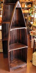 バリ家具 舟のラック ブラウンM3段[H.約148cm]/アジアン雑貨/バリ雑貨