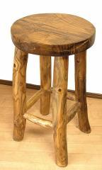 【送料無料】バリ家具 天然木チークの椅子 スツール L [H.約60cm] アジアン雑貨 バリ雑貨 インテリア 木製 チェア