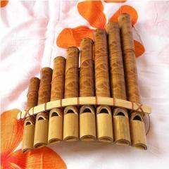 アジアの楽器 バンブーの笛 8連 アジアン雑貨 バリ雑貨 インテリア 竹製