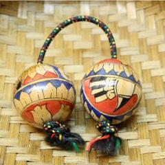 アジアの楽器 パチカ(アサラト) 単品 エスニック柄 アジアン雑貨 バリ雑貨