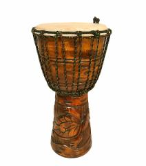 【送料無料】アジアの楽器ジャンベ[太鼓]H.50cm手彫り彫刻 アジアン雑貨 バリ雑貨 タイ雑貨 アジアンインテリア