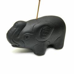 象さんのお香立て <黒> インセンスホルダー/スティックタイプ用お香立て・お香たて エスニック バリ アジアン アジアン雑貨