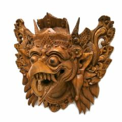 【壁掛け】木彫りの『ガルーダ』[横24cmx縦22cm]エスニック バリ アジアン アジアン雑貨
