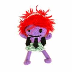 ブードゥー人形ストラップキーホルダー【LL】DJ女の子 紫[H.12cm] エスニック タイ アジアン タイ雑貨
