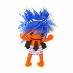 ブードゥー人形ストラップキーホルダー【LL】DJ女の子 オレンジ[H.12cm] エスニック タイ アジアン タイ雑貨