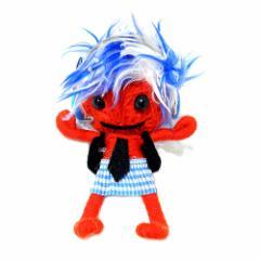 ブードゥー人形ストラップキーホルダー【LL】DJ女の子 赤[H.12cm] エスニック タイ アジアン タイ雑貨
