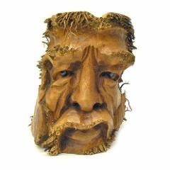 バンブーの根のアートマスク 灰皿 C [H約25cm] エスニック バリ アジアン アジアン雑貨