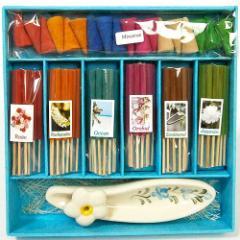 タイのお香 ギフトセットA お香立皿付き アジアン雑貨 バリ雑貨 タイ雑貨 スパエステ用品