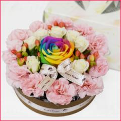 【送料無料】レインボーローズフラワーケーキ【花】【プレゼント】【お誕生日】【お祝い】【wd】