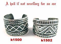 幅広 燻し柄 シルバー 銀製品 イヤーカーフ イヤーカフ イヤーカフス k1500-1502