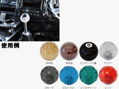 JETイノウエ シフトノブ 丸型シフトノブ ダイヤカット クリアー 12x1.25 アダプター付 562102 *トラック用品*