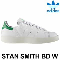 アディダス オリジナルス スタンスミス スニーカー レディース 白 ホワイト 緑 グリーン 厚底 adidas Originals STAN SMITH BD W
