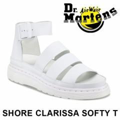 正規品 ドクターマーチン チャンキー ストラップ サンダル レディース グラディエーター ホワイト 白 女性 Dr.Martens SHORE CLARISSA