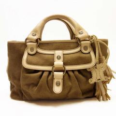 【中古】セリーヌ ハンドバッグ ◆  レディース ◆定番人気 ブラウンxベージュ t11648