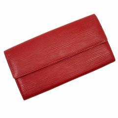 【中古】ルイヴィトン 長財布 ◆ポルトフォイユサラ エピ レディース ◆定番人気 カスティリアンレッド t11663