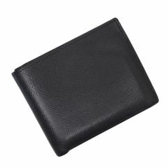 【定番人気】【中古】エルメス 二つ折り札入れ   レディース メンズ ブラック t12063