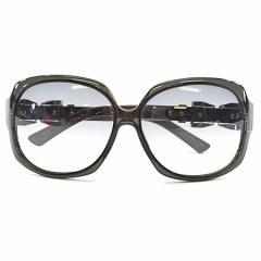 【中古】グッチ サングラス ◆  レディース◆ レンズ:ブラックグラデーション フレーム:ブラックxシルバーカラー k7838