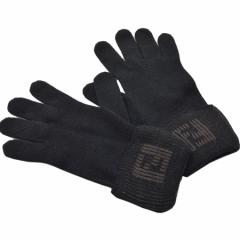 【おすすめ】【中古】フェンディ 手袋   レディース メンズ ブラック k6424