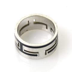 【中古】エルメス 指輪 リング ◆ ムーブアッシュ レディース ◆定番人気 シルバーxブラック y11830