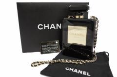 【新品】シャネル バッグ チェーンショルダーバッグ Chanel No.5 モチーフ レディース 展示品 ブラック 送料無料 緊急値下 e1010