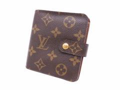 【定番人気】【中古】ルイヴィトン 財布 二つ折り財布 コンパクトジップ モノグラム レディース メンズ ブラウン e28374