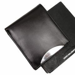 【中古】ゼロハリバートン 二つ折り財布◆  メンズ◆定番人気 ブラックxシルバー h14927