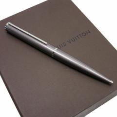【中古】ルイヴィトン ボールペン (黒) ◆ジェットラック  レディース メンズ ◆定番人気 グレーxシルバー h15148