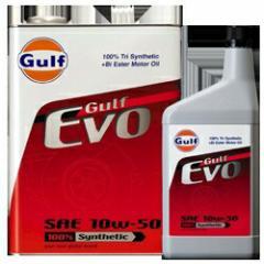 ガルフ エンジンオイル EVO 10W-50 1L X 6本セット 100%合成  (Gulf オイル)