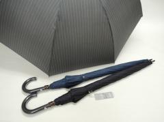 送料無料 傘 メンズ 紳士長傘 ストライププリント 大きめサイズ 70cmジャンプ傘グラスファイバー ファッション雑貨 コーデ 雨具 hit_d