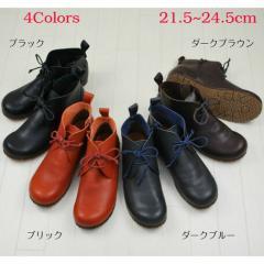 3000円以上送料無料 ブーティ レディース レディース靴 本革 日本製 ソフトレザー デザートブーツ インヒール 靴 シューズ ブーツ
