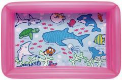 3000円以上送料無料 家庭用プール キッズ おもちゃ ビニールプール すいぞくかん 角型プール 100×65CM ピンク 水あそび プール