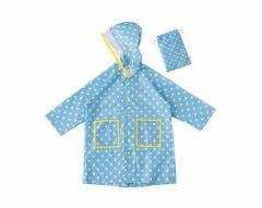 送料無料 レインコート キッズ 雨具 ガーリードット S ブルー GirlyDot 子供服 洋品
