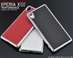 送料無料 スマートフォンケース メンズ 小物 Xperia X Performance用メタリックカーボンデザインケース スマートフォン