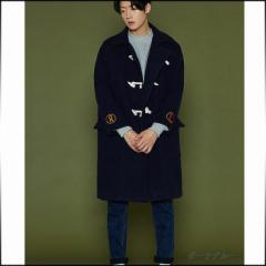 3000円以上送料無料 ダッフルコート メンズ アウター ハーフコート シンプル ジャケット ゆったり カジュアル 防寒 メンズファッション