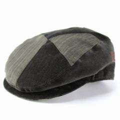 ハンチング ダックス 帽子 メンズ/お洒落なパッチワークハンチング/ハンチング帽 ファッション/ブラウン