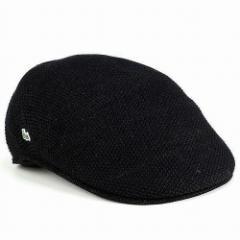 ハンチング 帽子 メンズ/サマーニット 春夏 ファッション/鹿の子編み ニット/ラコステ lacoste/ブランド スポーツ/黒 ブラック