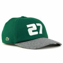 秋冬 ラコステ キャップ CAP メンズ lacoste 帽子 フランネル キャップ メンズ 5方 グリーン