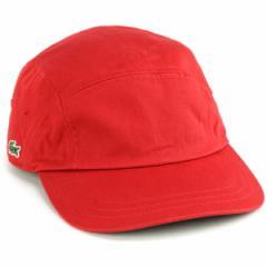 ツイル 風船キャップ CAP メンズ ラコステ キャップ メンズ lacoste 春夏 帽子 赤 レッド