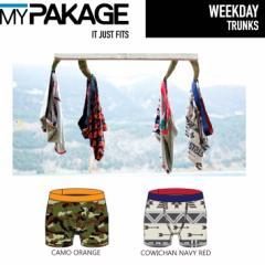 MY PAKAGE  マイパッケージ ボクサーパンツ WEEKDAY  TRUNKS プリントデザイン メンズ 下着 パンツ トランクス インナーウェア
