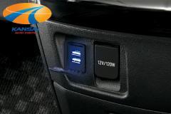 KSPEC GARAX ギャラクス★USBスイッチホールカバー(LED点灯タイプ)[トヨタ汎用A]