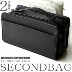 ★送料無料★ セカンドバッグ メンズ 大容量 ダブルファスナー 軽量 バック (2色)【2042T】