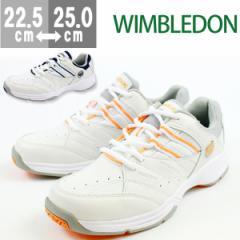 送料無料祭☆WIMBLEDON WL-3500 【レディース スニーカー】 ホワイト/ネイビー・オレンジ [lssn]